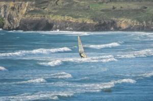 Windsurfing off Newport beach